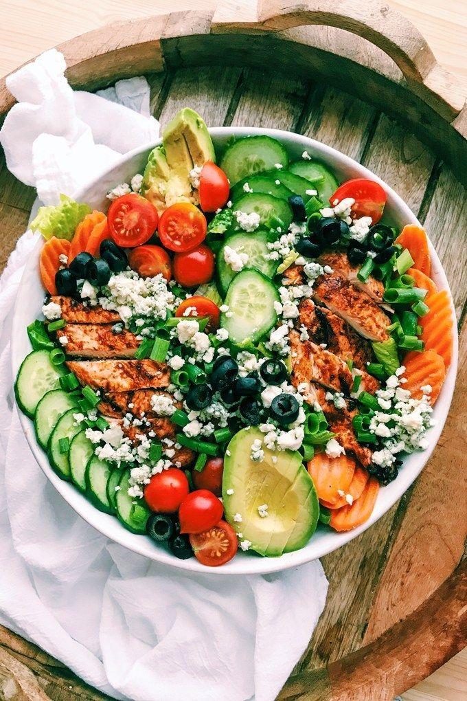 Bbq Chicken Salad With Buttermilk Jalapeno Ranch Recipe Fruit Salad Recipes Bbq Chicken Salad Bbq Chicken