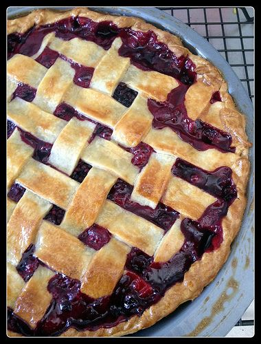 Boysenberry Pie - serve this with some King Island Double Cream and you are close to heaven...