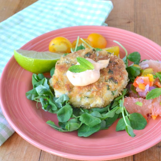 Atlantic Cod Cakes with Ruby Red Salsa - The View from Great Island