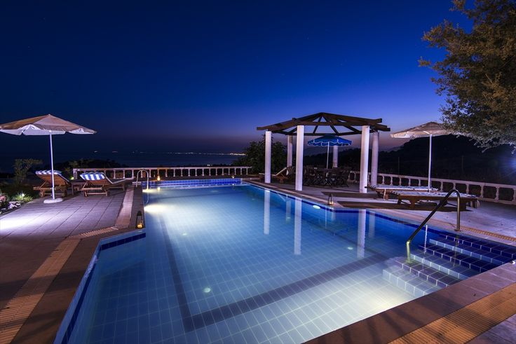 Lovely Villa Meltemi near Pefkos, Rhodes.  Private pool and panoramic sea views.