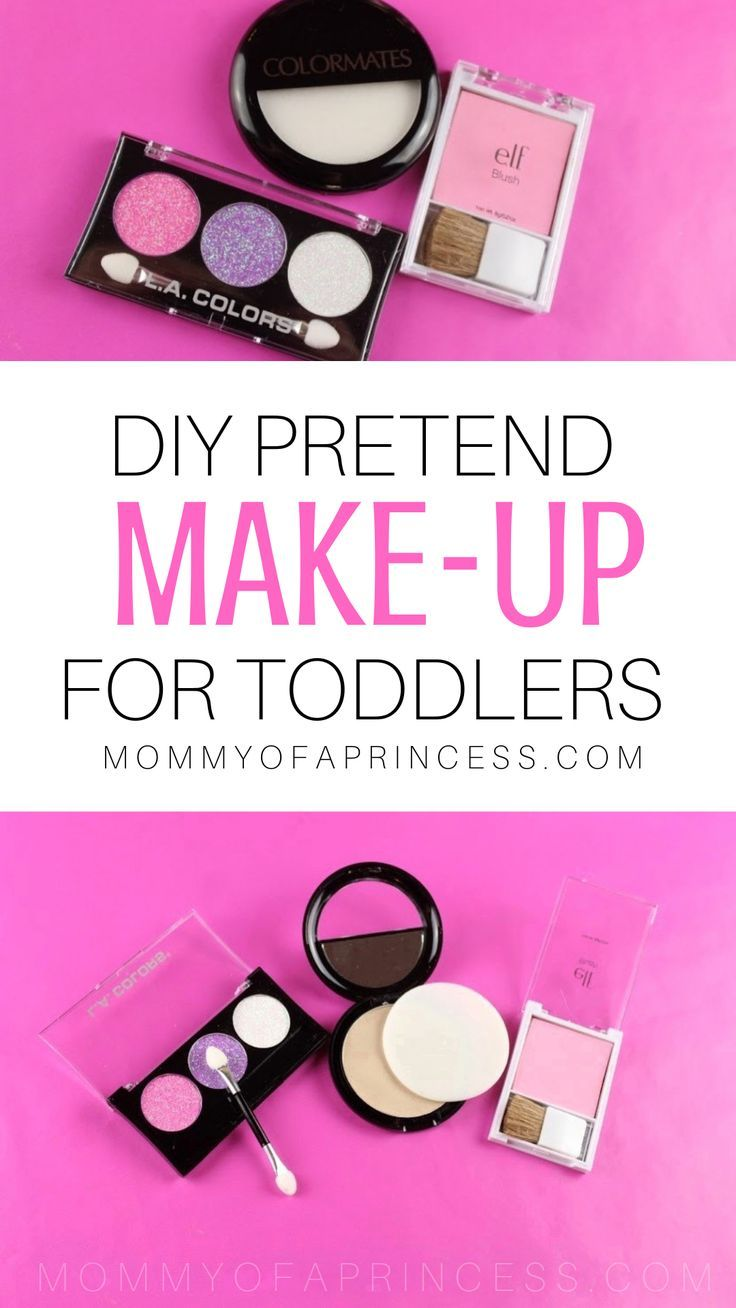 How To Make Diy Kid Makeup Mess Free Pretend Play Makeup For Toddler Makeup Kit For Kids Play Makeup Pretend Makeup For Toddlers