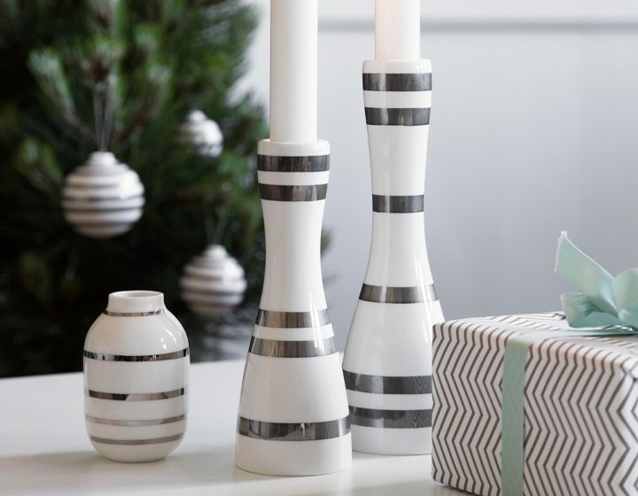 Omaggio Kerzenständer silber | Kerzenleuchter | Accessoires | Kategorien | Stilbegeistert.com - Online-Shop für Wohndesign