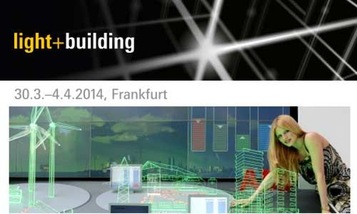 2014 light + building event Frankfurt At the fair, everything is represented, from LED technology, via photovoltaic and electro-mobility, to intelligent electricity usages with smart metering and smart grids.