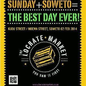 Locrate Market, corner of Kudu and Moema Streets, Orlando West, Soweto. Sunday 2 February