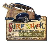 SURF SHACKLoyds Cut-Ups! ...not your everyday square. - CU01 - Antique Reproduction Sign - Vintage Signs in Shapes! -