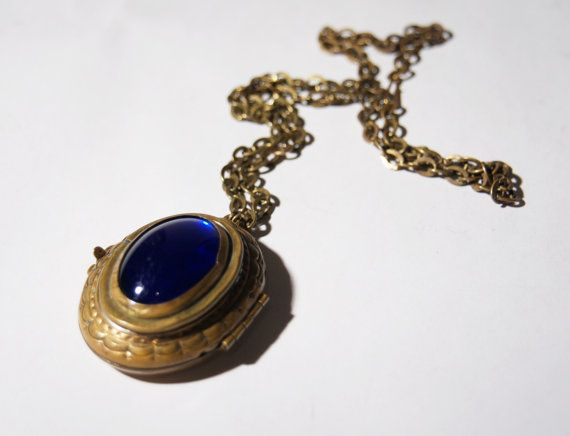 Rare Rafael Canada Necklace  Brass Locket  Vintage by LuckyPatina