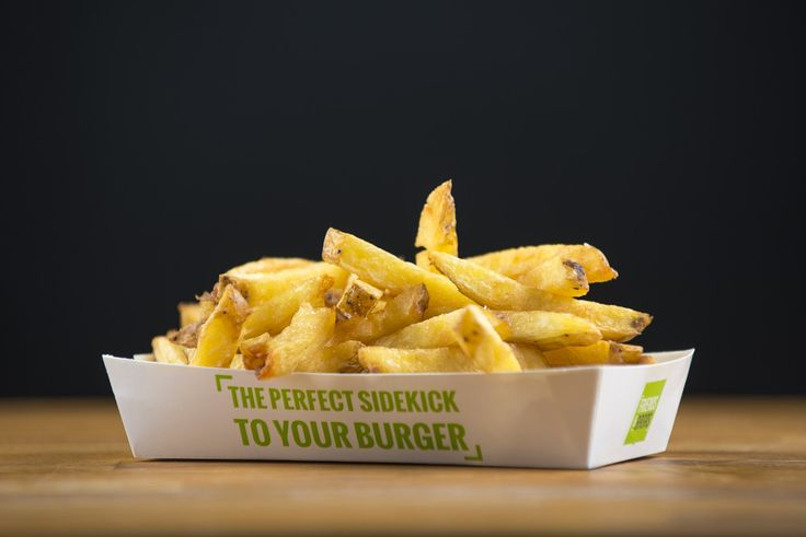Friends & Brgrs – Friend's Fries. Our own Triple cooked fries made from fresh potatoes. Handmade in our kitchen. #fries #burgerrestaurant #fastcasual #restaurant #friendsandbrgrs