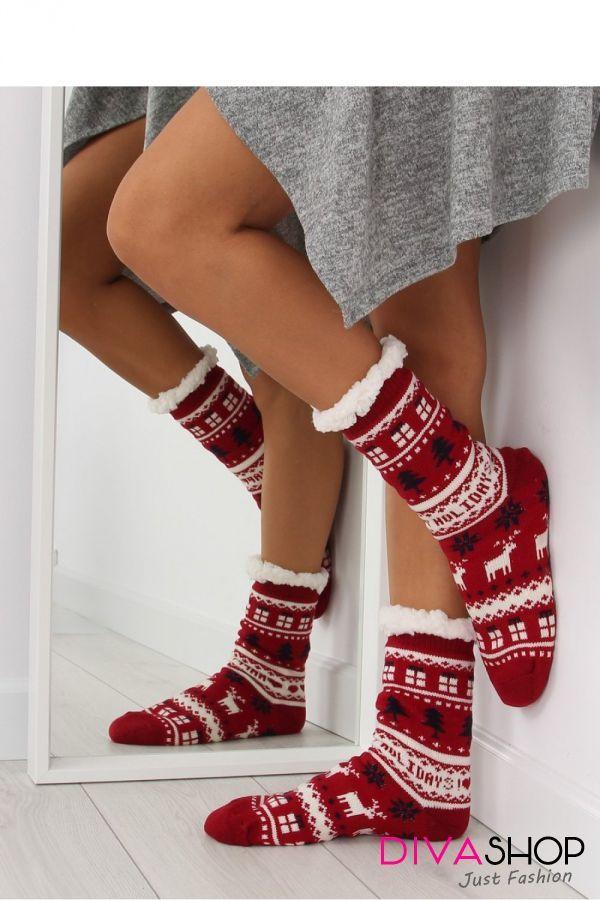 Papuci dama rosu Inello