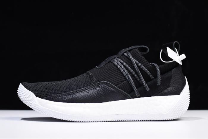 43b7c653ff5 2018 Mens Adidas Harden LS 2 Buckle Black White AC7438 For Sale
