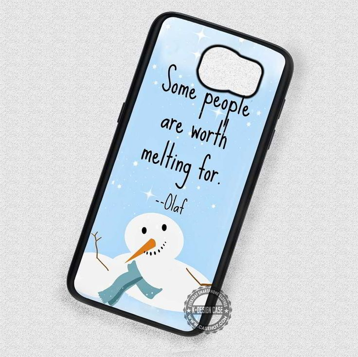 Olaf Frozen Quote Disney - Samsung Galaxy S4 S5 S6 Note 5 Cases & Covers