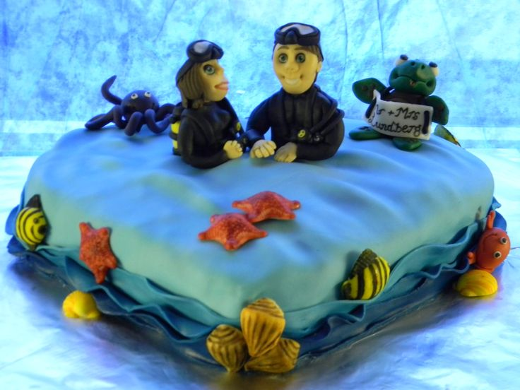 Sea themed cake for deep sea divers