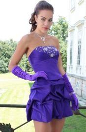 #Royal Purple#Beaded#Party Dress