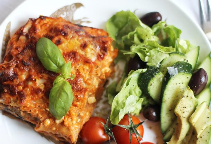 Grönsakslasagne utan pasta.