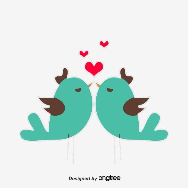 Oiseaux D Amour De La Saint Valentin Amour Les Tourtereaux Coeur De Coeur Fichier Png Et Psd Pour Le Telechargement Libre Valentine Clipart Valentine Wedding Valentine Day Love