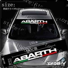 car stickers abarth windshield glass stickers reflectorised after front rise…