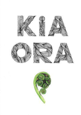 KIA ORA greeting card - blank