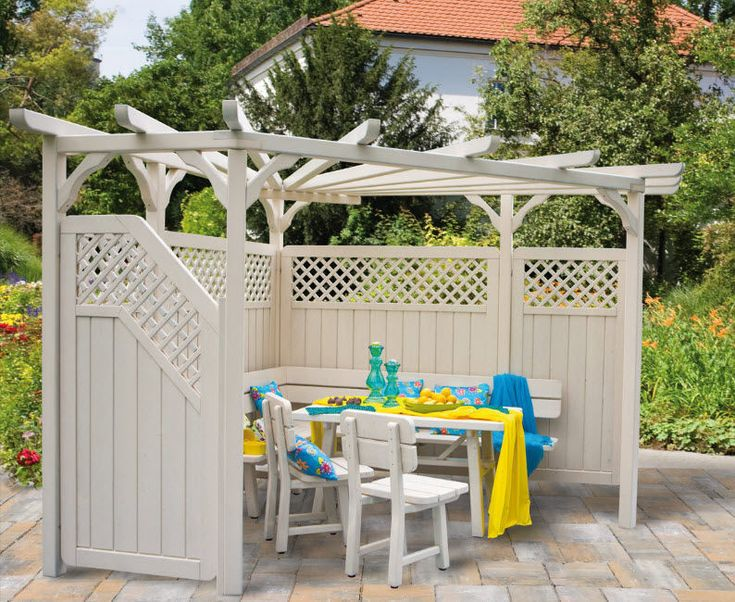 Marvelous A Pergola That Doubles As A Wind Break   Would Be Good In The Windy Corner