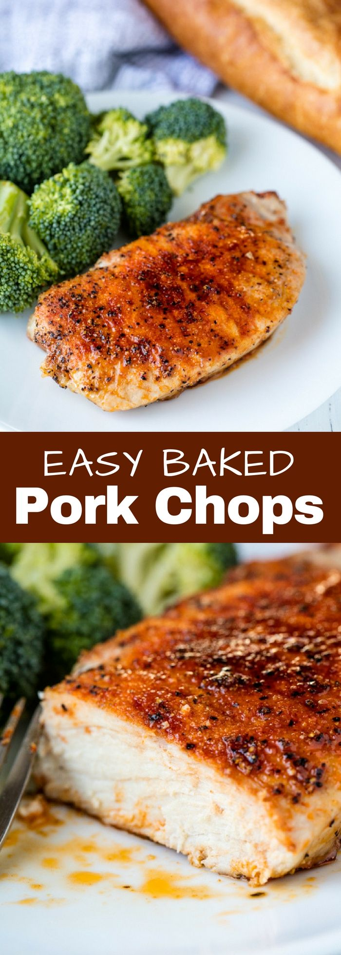 These Easy Baked Pork Chops only require a few spices to really make them stand out. They are juicy, tender, and full of flavor.