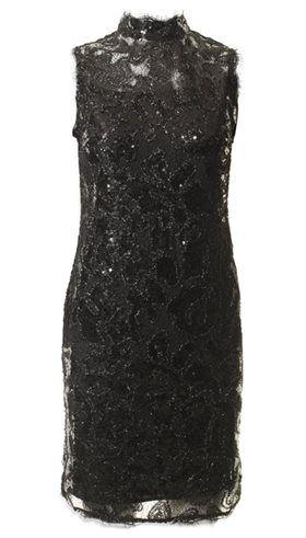 Style Butler - Aura Dress - Tætsiddende sort blondekjole med pailetter