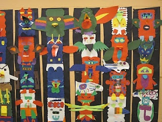 These Totem Poles turned out beautifully.  I love the idea of mounting them on the black paper @jann