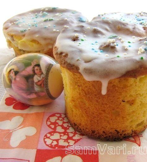 Творожный пасхальный кулич /Curd Easter cake