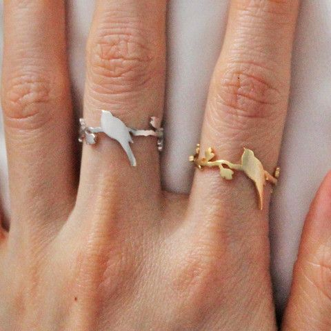 Silver Bird Perched Ring | The Alchemy Shop, LLC