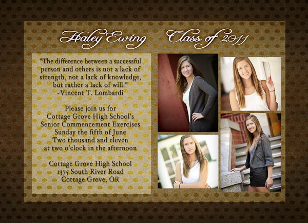 47 best graduation images on pinterest graduation ideas senior image detail for examples of graduation announcements quotes submited images pic 2 filmwisefo