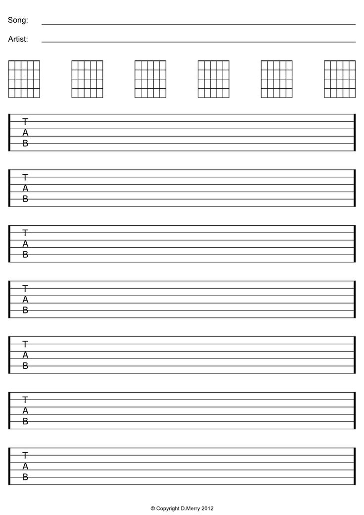 Free Printable Blank Sheet Music For Guitar - money sheet music abba free pdfimage description ...