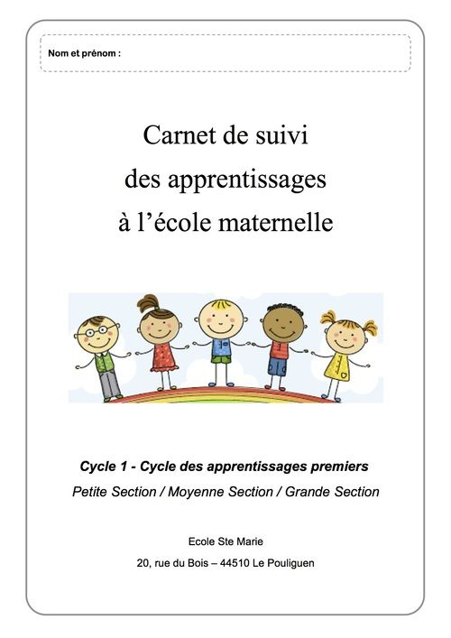 Carnet de suivi CYCLE 1 PS/MS/GS