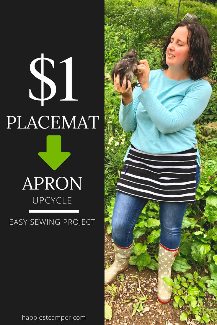 Dollar Store Placemat for Aprons by Upcycle Easy Sewing Project for beginners   – DIY and crafts