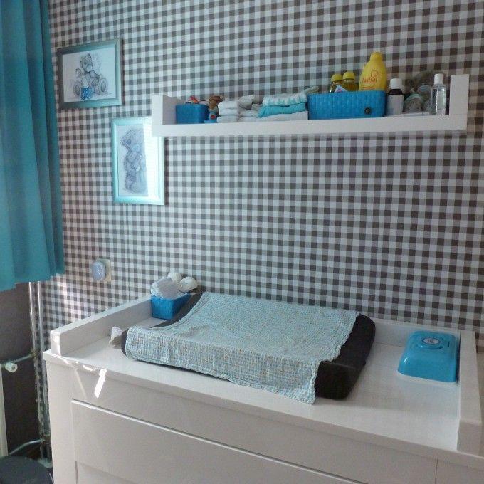 Blauw, grijze babykamer voor een jongen2