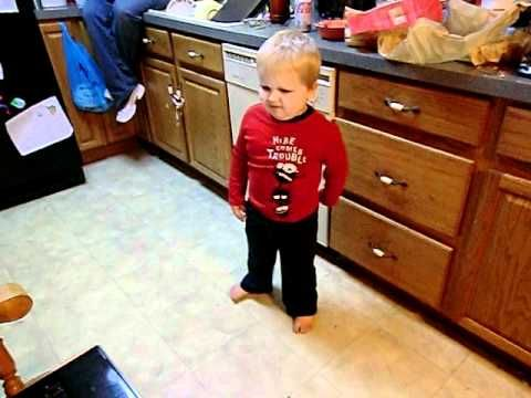 "three year old sings and dances to LMFAO's ""Sexy and I Know It""  worth a look"