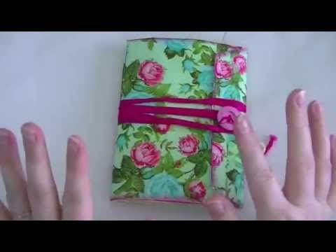 ▶ Floral Napkin 6x9 Envelope Journal. - YouTube