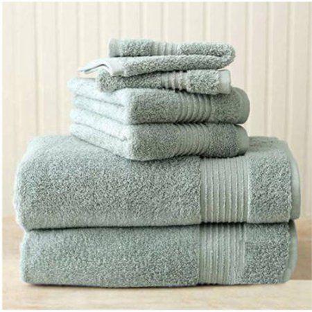Better Homes Gardens Extra Absorbent Solid Bath Towel Set 6
