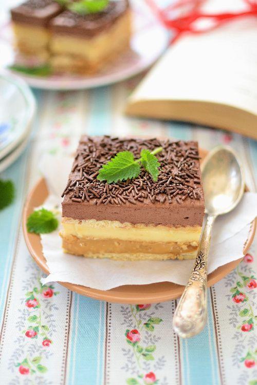 Znane wszystkim ciasto 3 bit bez pieczenia. Do bitej śmietany dodałam kakao co…