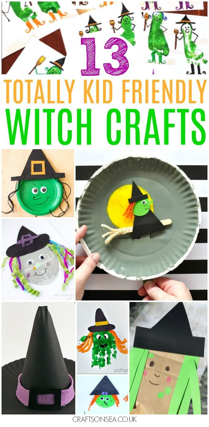 These easy witch crafts for kids are all totally achievable and not too scary either! With ideas perfect for toddler, preschoolers and older kids too