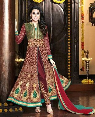 Karishma Kapoor, Bollywood style Salwar Kameez, Suits,Anarkali Suits, Salwar Kameez, Designer Suits Online Shopping, Buy Karishma Kapoor, Bollywood style Salwar Kameez, S - iStYle99.com