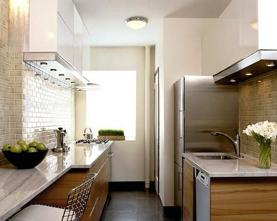 Epic To make the small kitchen feel and look less small keep the counters clutter free with