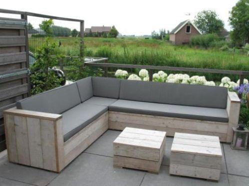 Steigerhout Hoekbank Loungeset