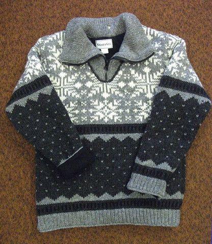 Grey Snowflake Pullover – Real Wool Shop