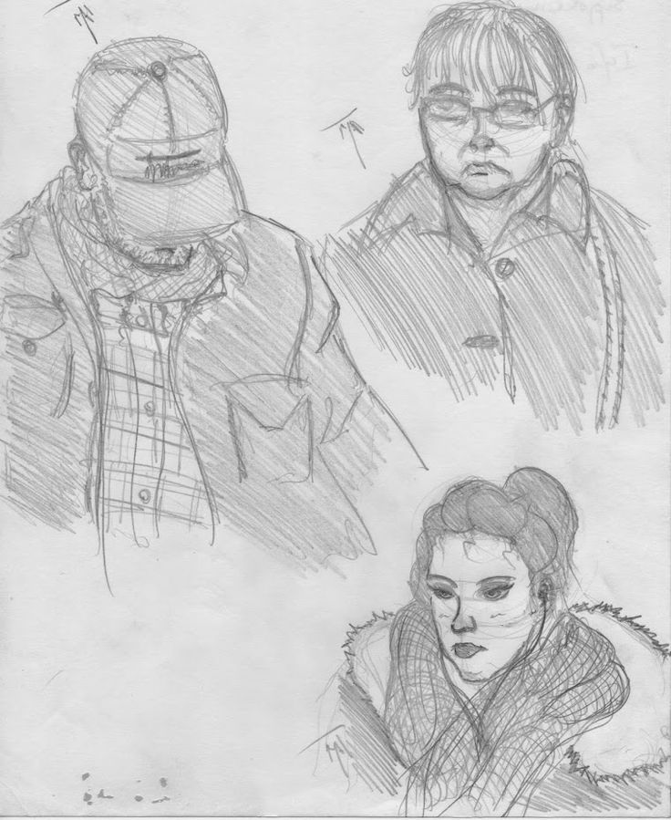 People in the train, Matthieu