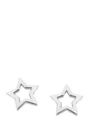 Mini Star Stud Earrings, Karen Walker sterling silver mini star stud earrings from Karen Walker Jewellery's Super Fine collection in silver. Click to buy.