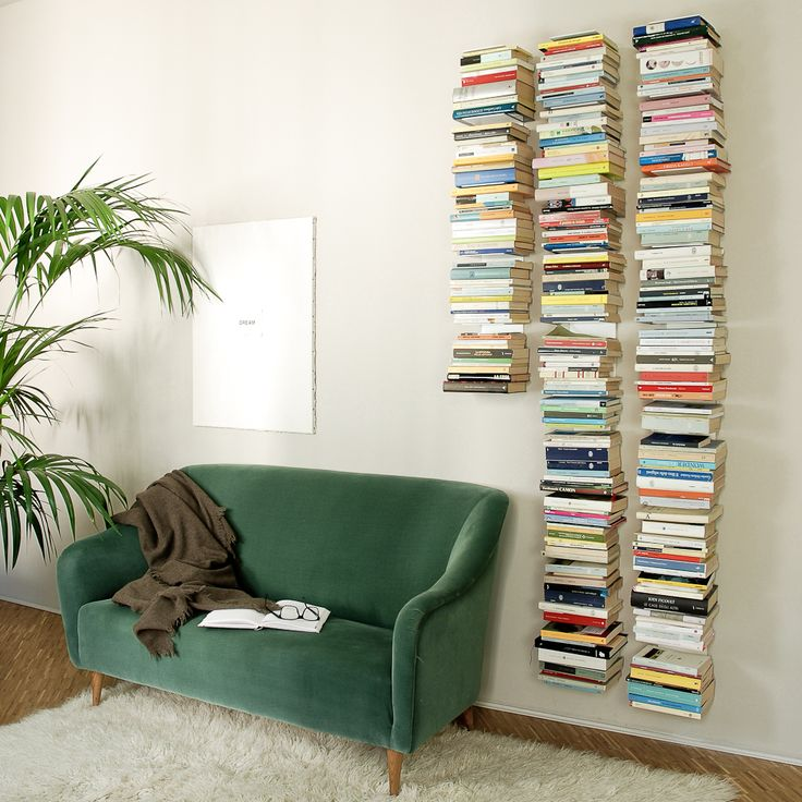 BOOK is an iron bookshelf with a slender shape that can hold up to 40 books. If you combine them together in a wall of the house and filled them with you favorite authors the result is stunning.