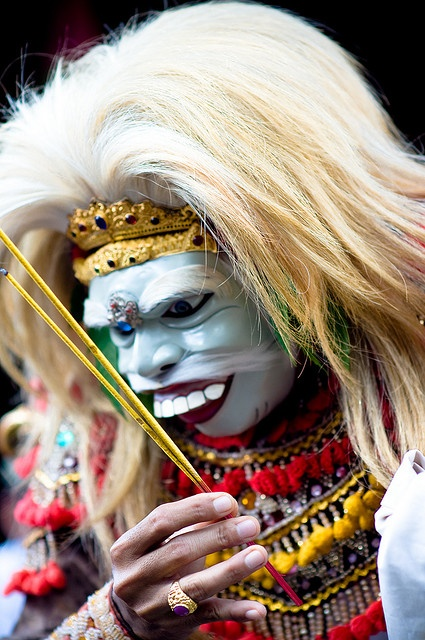 Topeng (mask) performer, #Ubud #Bali #Indonesia