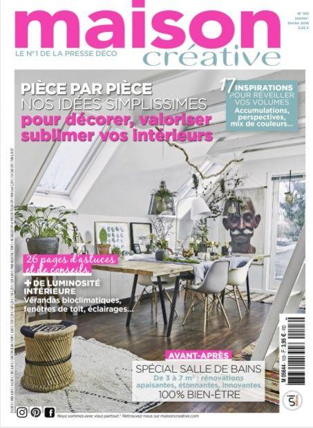 Le numéro de janvier-février 2018 de Maison Créative. #maisoncreative #magazine #decoration #artdevivre #lifestyle #lifestyleblogger