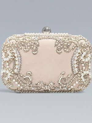 Zara beaded clutch:)