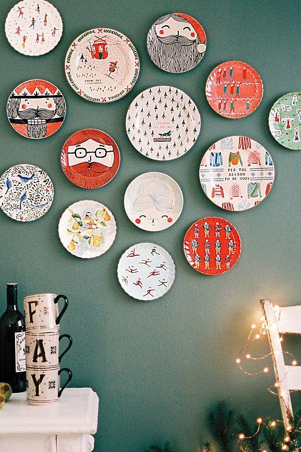 12 Twelve Days Of Christmas Vorspeisenteller Set Anthropologie Christmas Plates On Wall Decor