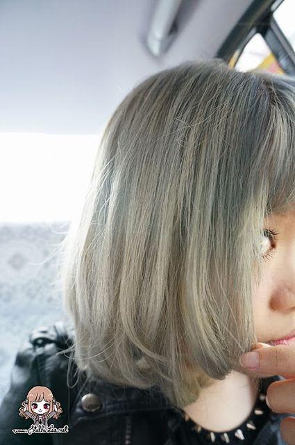 surprise gray #asianhair // Freshlight Foam Hair Dye in Berry Ash Result