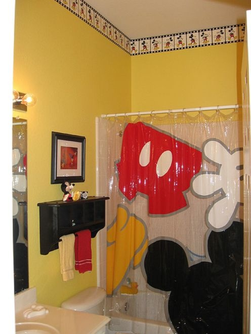 disney bathroom it all started with a dream and a mouse pinterest. Black Bedroom Furniture Sets. Home Design Ideas