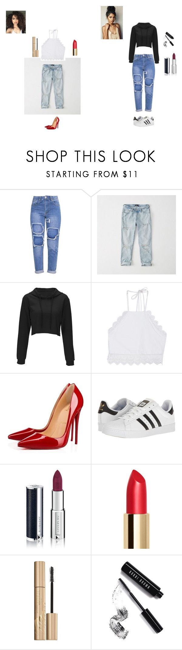 """""""Rita's fashion trend"""" by ritabrown175 on Polyvore featuring ASAP, Abercrombie & Fitch, Front Row Shop, Christian Louboutin, adidas, Givenchy, Stila and Bobbi Brown Cosmetics"""